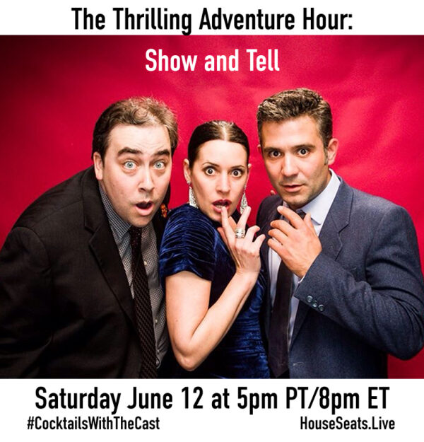 June 12, Paul F. Tompkins, Paget Brewster, Marc Evan Jackson, and your Thrilling Adventure Hour pals as they share their most embarrassing clips from working in entertainment!
